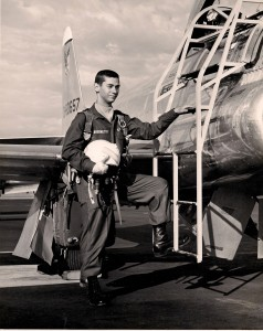 An early training flight in a T-33 aircraft